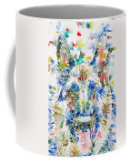 German Shepherd - Watercolor Portrait Coffee Mug