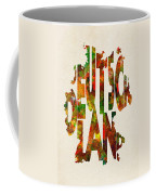 Germany Typographic Watercolor Map Coffee Mug