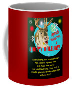 Gertrude The Good News Reindeer Coffee Mug