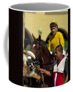 Getting Ready - Jockey And Horse For The Race Coffee Mug