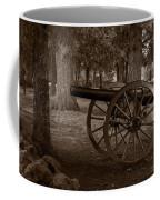 Gettysburg Cannon B W Coffee Mug