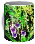Geyser Jaimie And Golden Fantasy Orchids Coffee Mug
