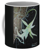 Ghost Orchid On A Palm Tree Coffee Mug
