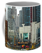 Downtown Chicago High Rise Construction Site Coffee Mug