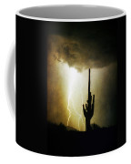 Giant Saguaro Lightning Spiral Fine Art Photography Print Coffee Mug
