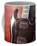 Gibson Sg Standard Red Grunge Coffee Mug