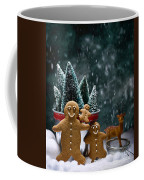 Gingerbread Family In Snow Coffee Mug