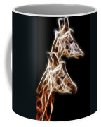 Giraffe Duo Fractal Coffee Mug
