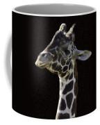 Giraffe In The Morning Pixelated Coffee Mug