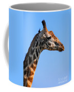 Giraffe Portrait Close-up. Safari In Serengeti. Tanzania Coffee Mug