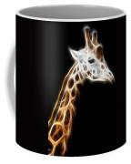 Giraffe Portrait Fractal Coffee Mug