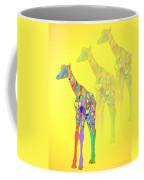 Giraffe X 3 - Yellow Coffee Mug