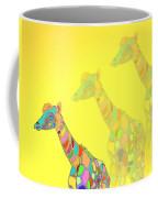 Giraffe X 3 - Yellow - The Card Coffee Mug