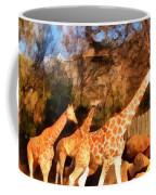 Giraffes At The Zoo Coffee Mug