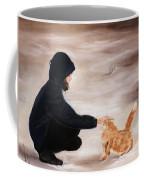 Girl And A Cat Coffee Mug