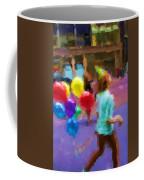 Girl And Her Balloons Coffee Mug