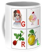 Girl Art Alphabet For Kids Room Coffee Mug