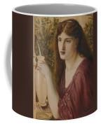 Girl At A Fountain Coffee Mug