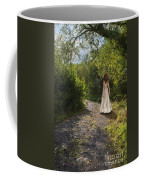 Girl In Country Lane Coffee Mug