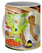 Girl In Dominica Mountains Coffee Mug