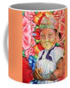 Girl In Flowers Coffee Mug