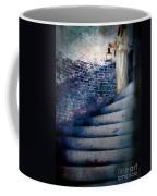 Girl In Nightgown On Circular Stone Steps Coffee Mug