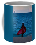 Girl In Red Float Coffee Mug
