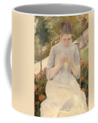 Girl In The Garden Coffee Mug