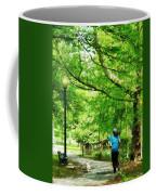 Girl Jogging With Dog Coffee Mug