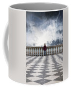 Girl On A Terrace Coffee Mug by Joana Kruse