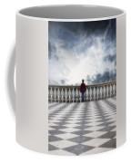 Girl On A Terrace Coffee Mug