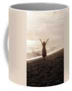 Girl On Beach Coffee Mug by Joana Kruse