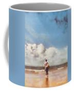 Girl On Beach Coffee Mug