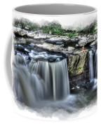 Girl On Rock At Falls Coffee Mug by Dan Friend