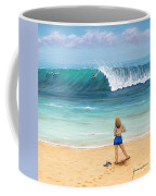 Girl On Surfer Beach Coffee Mug
