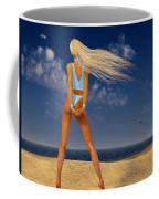 Girl On The Beach... Coffee Mug