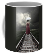 Girl On Tracks Coffee Mug