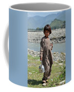 Girl Poses For Camera  Coffee Mug