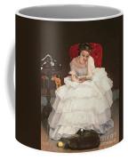 Girl Reading Coffee Mug by Alfred Emile Stevens