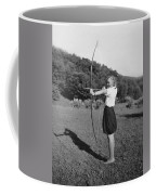 Girl Scout With Bow And Arrow Coffee Mug
