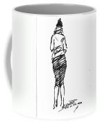 Girl Sketch Coffee Mug