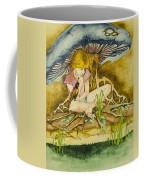 Girl Under Mushroom Coffee Mug