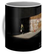 Girl Walking Into Shadow - New York City Street Scene Coffee Mug