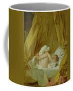 Girl With A Dog Coffee Mug by Jean Honore Fragonard