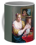 Girl With A Mirror, An Allegory Coffee Mug