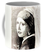 Girl With A Pearl Earring By Jan Vermeer Van Delft Coffee Mug