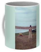 Girl With A Sheep Coffee Mug by Joana Kruse