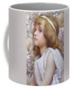 Girl With Apple Blossom Coffee Mug by Henry Ryland