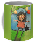 Girl With Balloons And Dog Coffee Mug