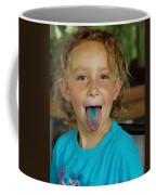 Girl With Blue Tongue Coffee Mug